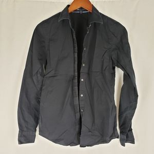 Gap Black Stretch Fitted Button Down S Tall